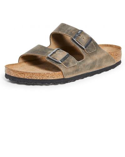 С ремешком кожаные сандалии с пряжкой Birkenstock