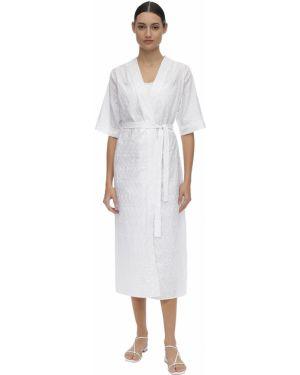 Платье с поясом с V-образным вырезом кимоно Verdelimon