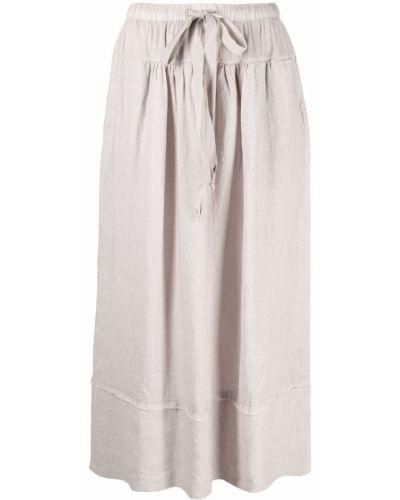 Серая льняная прямая юбка Kristensen Du Nord