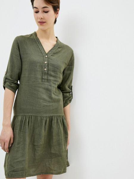 Платье прямое зеленый Perfect J
