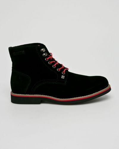 Ботинки на шнуровке высокие замшевые Big Star
