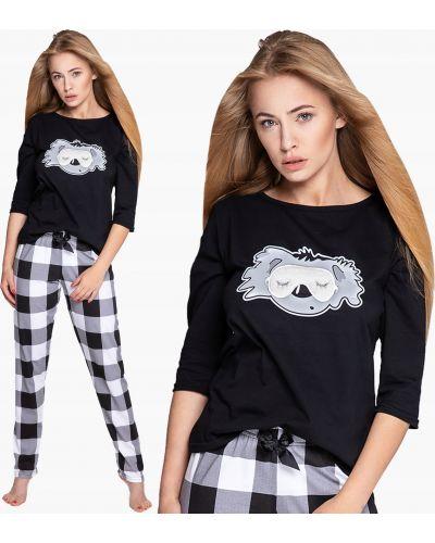 Czarna piżama bawełniana Sensis