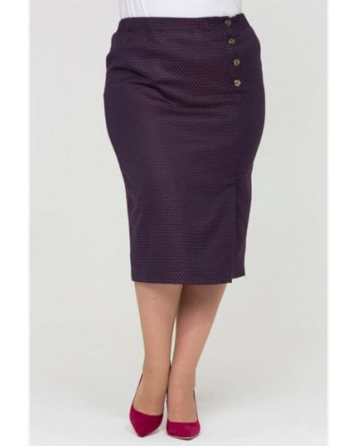 Фиолетовая юбка карандаш с рукавом 3/4 Intikoma