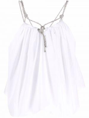 Biała bluzka bawełniana Halpern