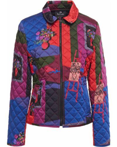Текстильная синяя стеганая куртка Ps Paul Smith