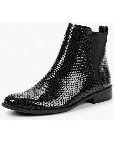 Кожаные ботинки черные польский Kazar