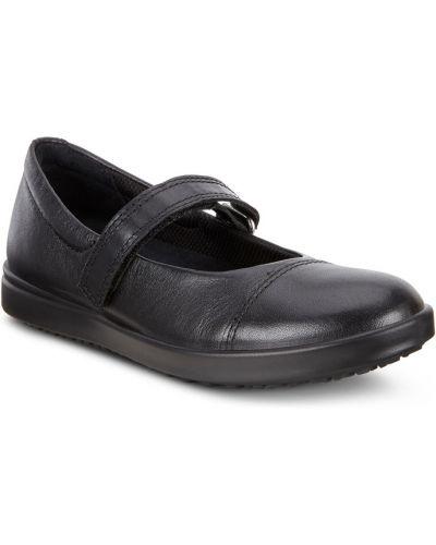Школьные туфли черные кожаные Ecco