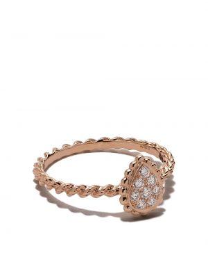 Złoty pierścionek z diamentem Boucheron