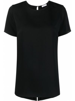 Черная блузка с короткими рукавами с вырезом P.a.r.o.s.h.