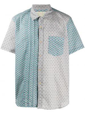 Koszula krótkie z krótkim rękawem klasyczna z kwiatowym nadrukiem By Walid