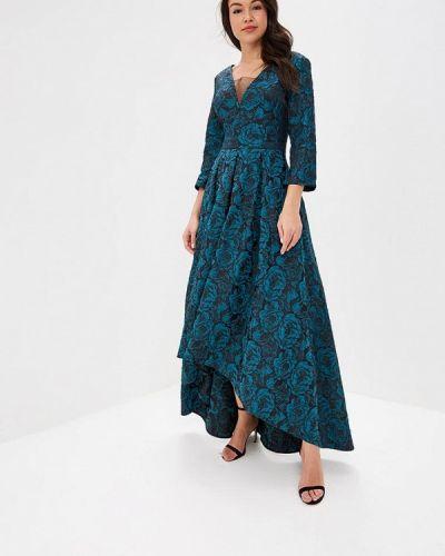 Вечернее платье бирюзовый осеннее Ksenia Knyazeva