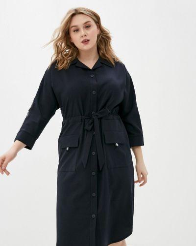 Прямое черное платье Gabriela