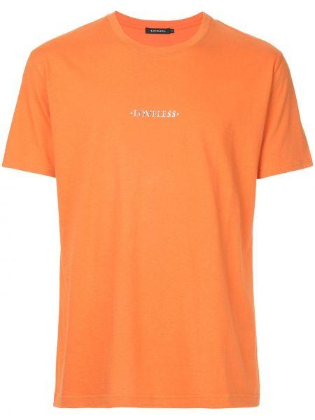 Хлопковая желтая футболка свободного кроя с круглым вырезом Loveless