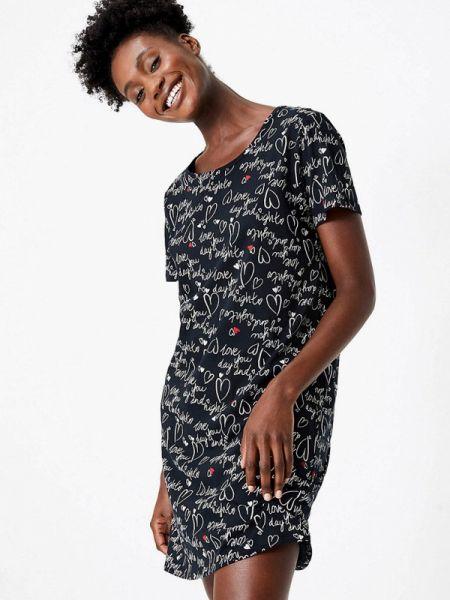 Платье черное весеннее Marks & Spencer