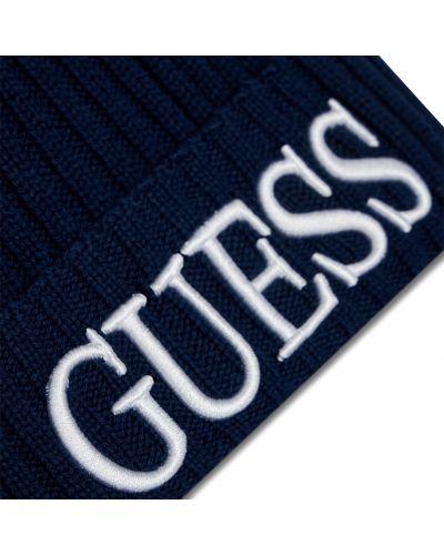 Шапка - синяя Guess