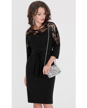 Вечернее платье деловое со вставками Dstrend