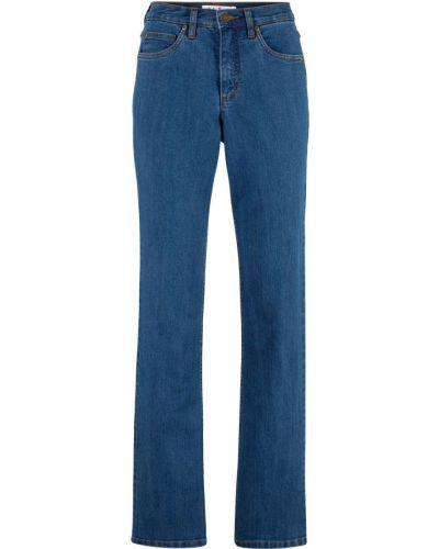 Широкие джинсы стрейч синие Bonprix