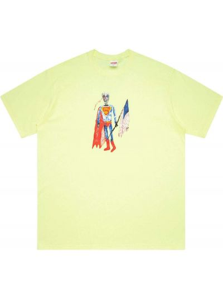 Żółty t-shirt bawełniany krótki rękaw Supreme