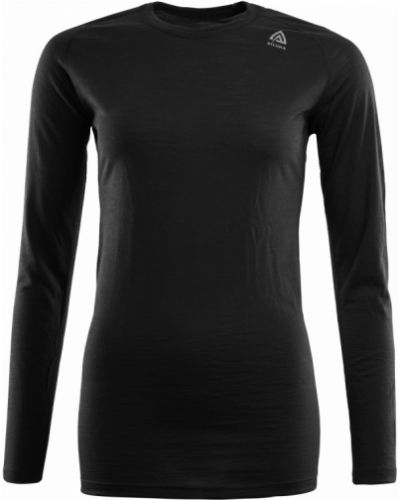 Облегающая черная рубашка с длинными рукавами Aclima
