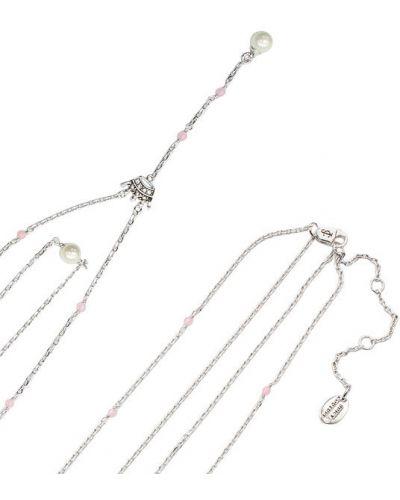 Серебряное ожерелье с жемчугом Juicy Couture