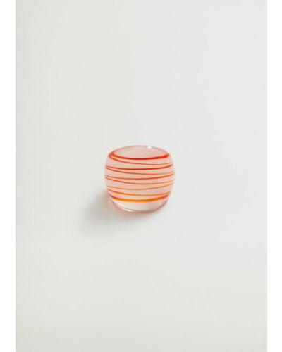 Różowy pierścionek Mango