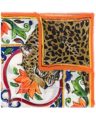 Кашемировый платок леопардовый Dolce & Gabbana