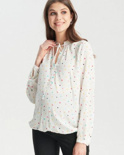 Блузка с длинным рукавом белая Budumamoy