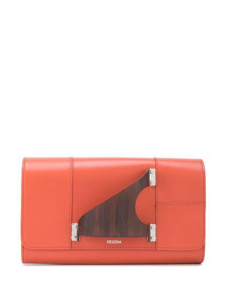 Оранжевая сумка металлическая с карманами Perrin Paris
