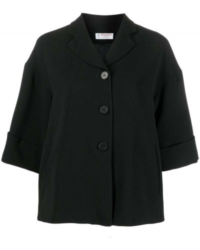 Черный классический пиджак на пуговицах с лацканами Alberto Biani