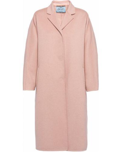 Шерстяное пальто - розовое Prada