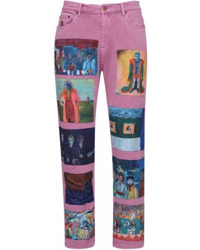 Niebieskie jeansy bawełniane Kidsuper Studios