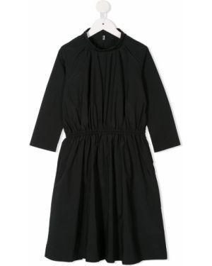 Черное платье с рукавами на пуговицах Fith