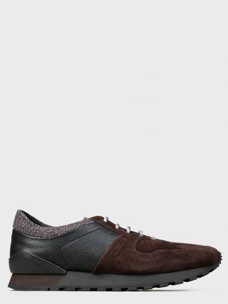 Кожаные кроссовки - коричневые Kiton
