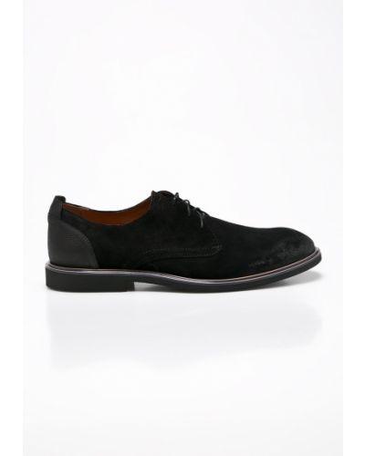 Кожаные туфли на шнуровке замшевые Conhpol