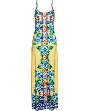 Платье макси желтый Bonprix