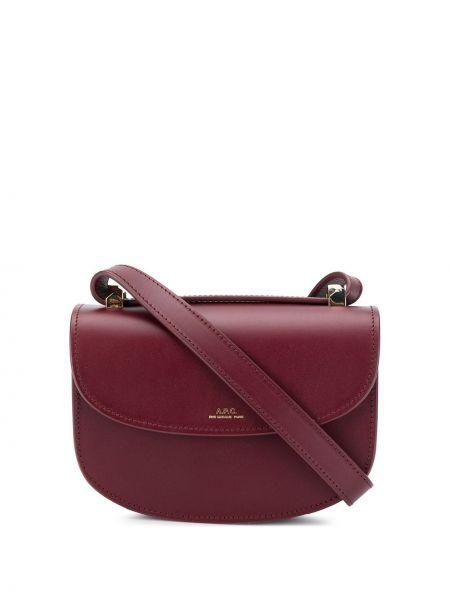 Кожаная красная сумка на плечо A.p.c.