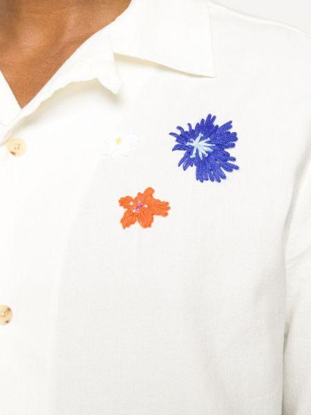 Biała koszula z haftem - biała Mcq Alexander Mcqueen