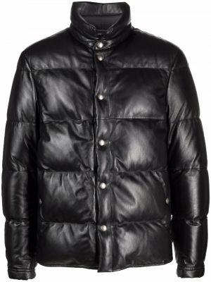 Кожаная куртка длинная - черная Tom Ford