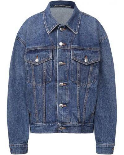 Хлопковая синяя джинсовая куртка Denim X Alexander Wang