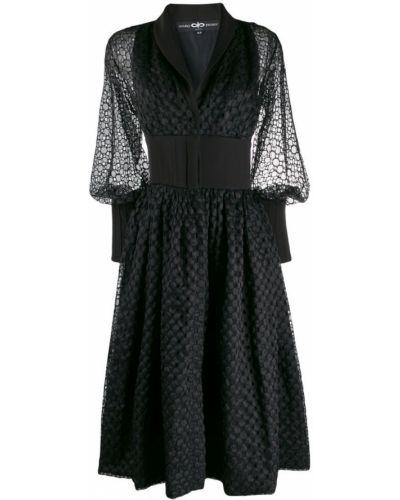 Платье расклешенное с длинными рукавами Avaro Figlio