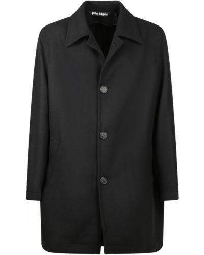 Długi płaszcz wełniany - czarny Palm Angels