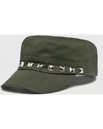 Зеленая шапка хлопковая Answear