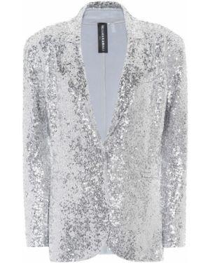Пиджак с пайетками серебряный Norma Kamali