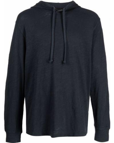 Niebieska bluza długa z kapturem z długimi rękawami Rag & Bone