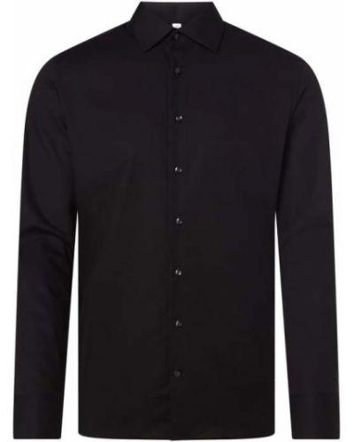 Czarna koszula z długimi rękawami Seidensticker