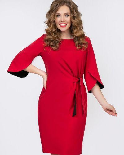 Комбинированное нарядное с рукавами платье-футляр Diolche
