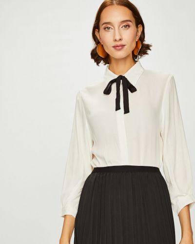 Блузка с длинным рукавом однотонная из вискозы Answear