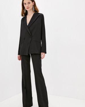 Черный облегающий костюмный брючный костюм Lipinskaya Brand