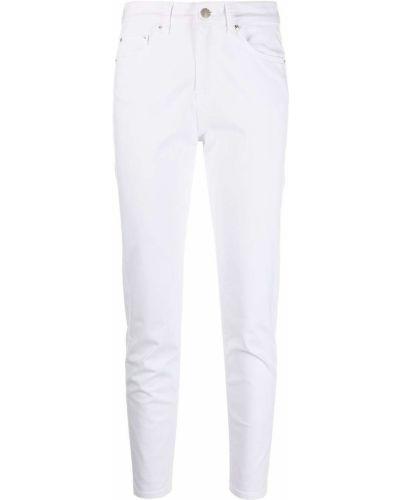 Белые джинсы классические с вышивкой с карманами Iceberg