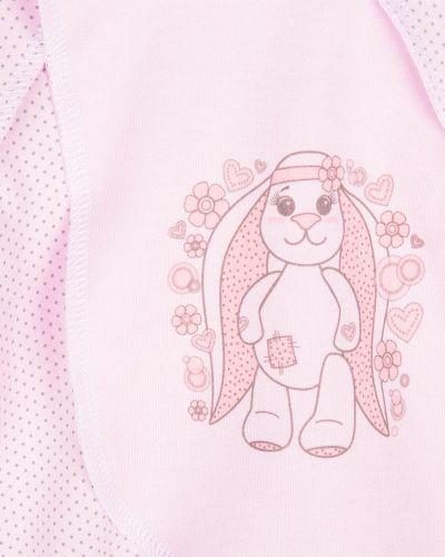 Распашонка детский розовый три медведя